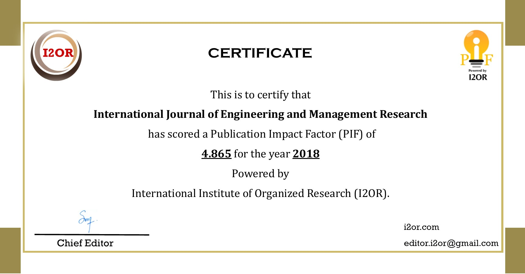 International Journal of Engineering and Management Research (IJEMR
